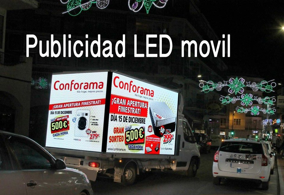 Camion pantalla led movil