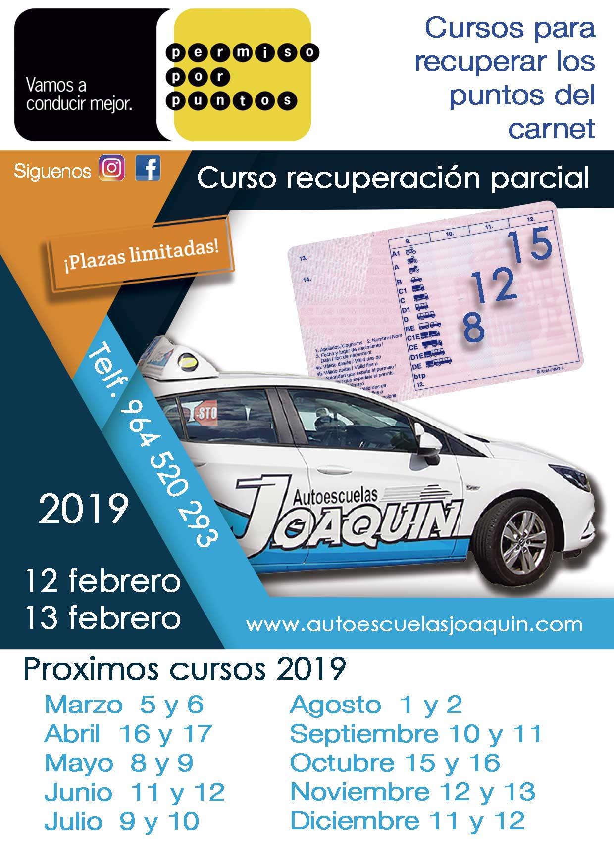 Recuperar-puntos-carnet-parcial febrero 2019